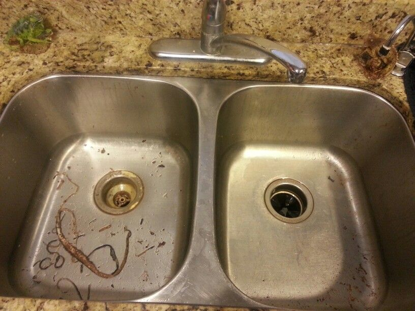 Kitchen Sink Project, With 3 Different Types Of Caulking To Seal Leaks. Had  To