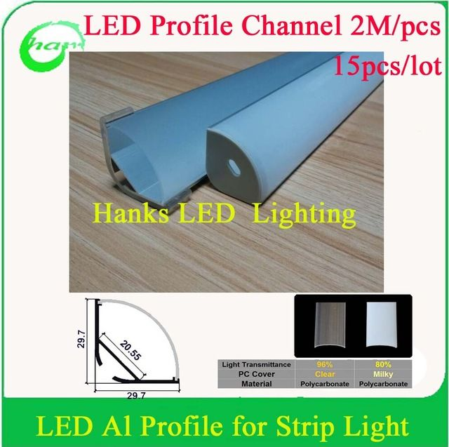 Aliexpress Com Buy 30m Lot 2m Pcsled Channel Led Diffuser Aluminum Led Profile For Width 20mm Strip Pcb From Reliable Led Fog La Led Led Light Bars Lamp Bulb