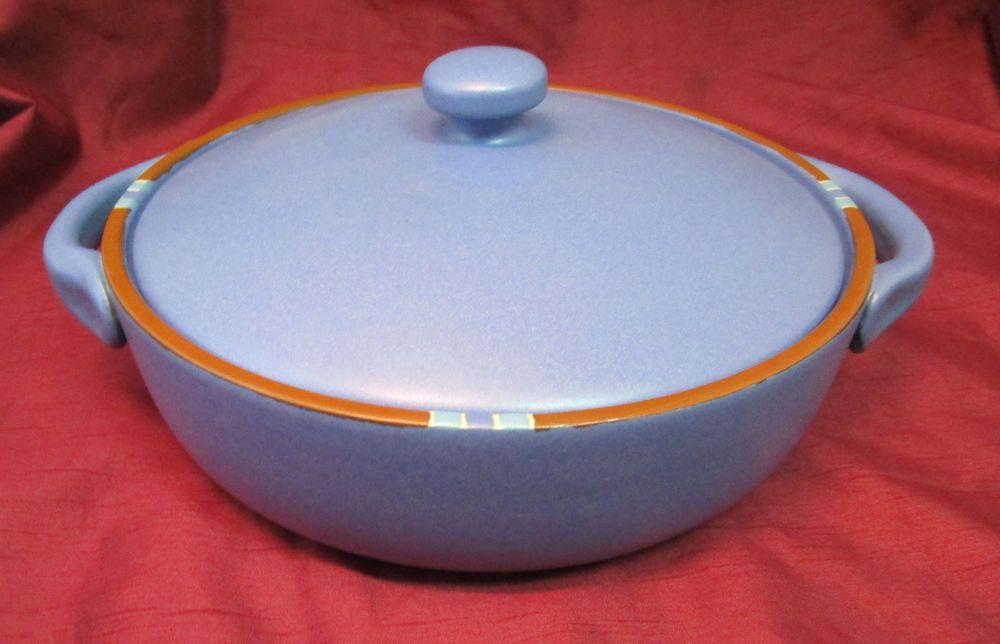Dansk International Blue Mesa 2 qt. Handled Casserole Serving Dish w/ lid & Dansk International Blue Mesa 2 qt. Handled Casserole Serving Dish w ...