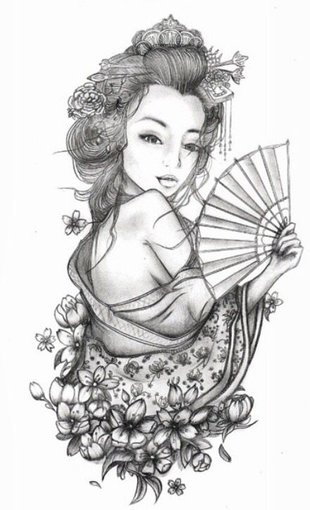 Geisha Art Japanese Tattoo Art Geisha Tattoo Sleeve Japanese