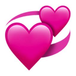 Revolving Hearts Png 256 256 Heart Emoji Emoji Love Ios Emoji