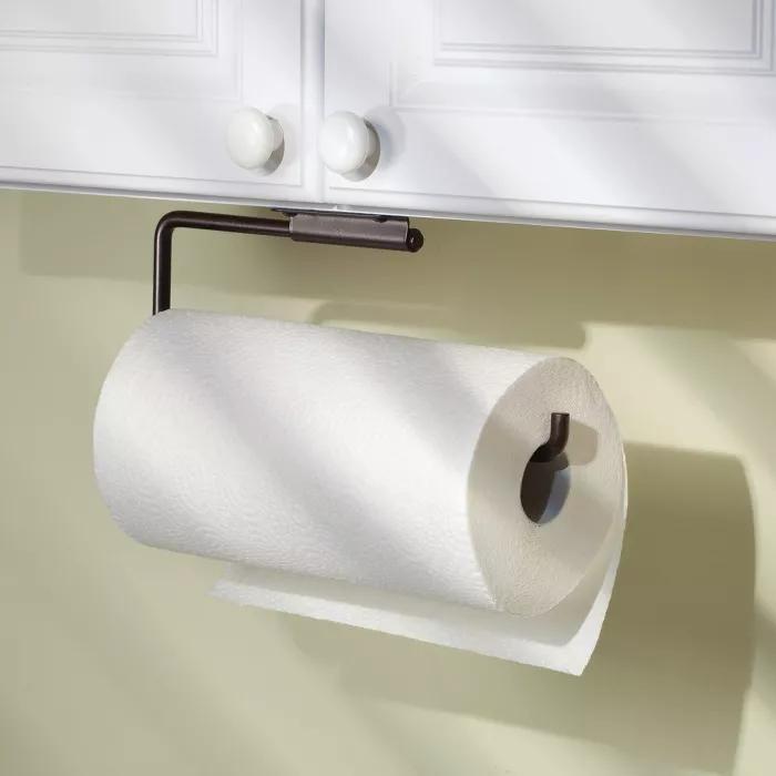 Interdesign Swivel Wall Mount Steel Paper Towel Holder Bronze In 2020 Paper Towel Holder Towel Holder Paper Towel