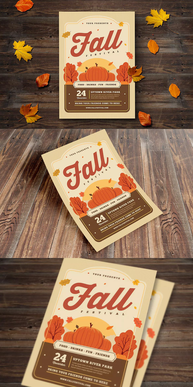 fall festival flyer template ai psd a4 flyer templates