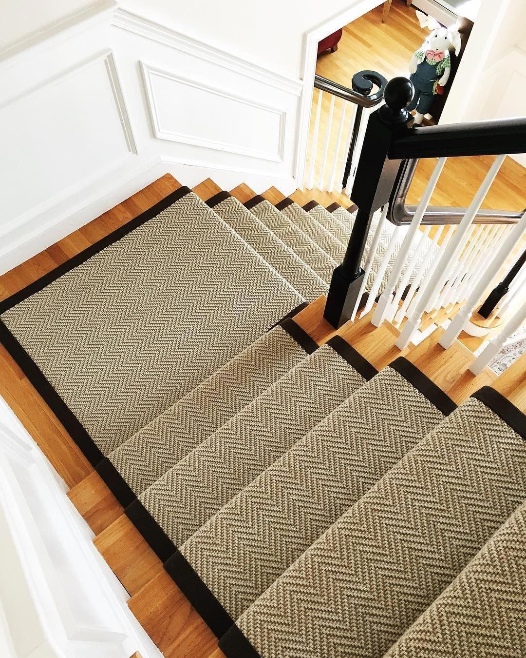 Dark railings, light tone floors. #CarpetStairRunnersLowes ...