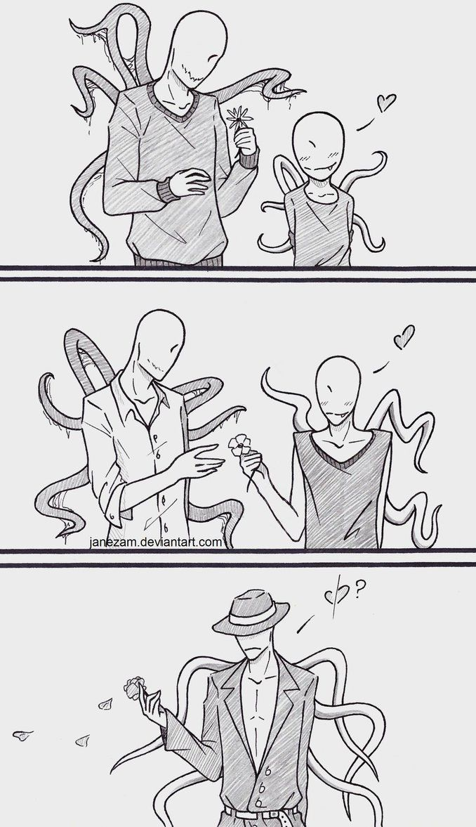 Offenderman and Slenderman (I don't know why, but this makes me tear