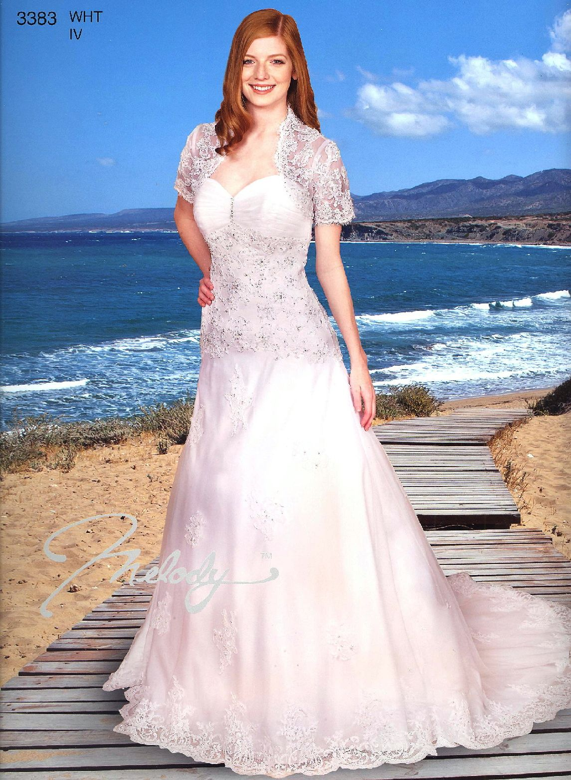 Wedding Gowns with Trains by Melody Collection<BR>3383<BR>Sweetheart ...