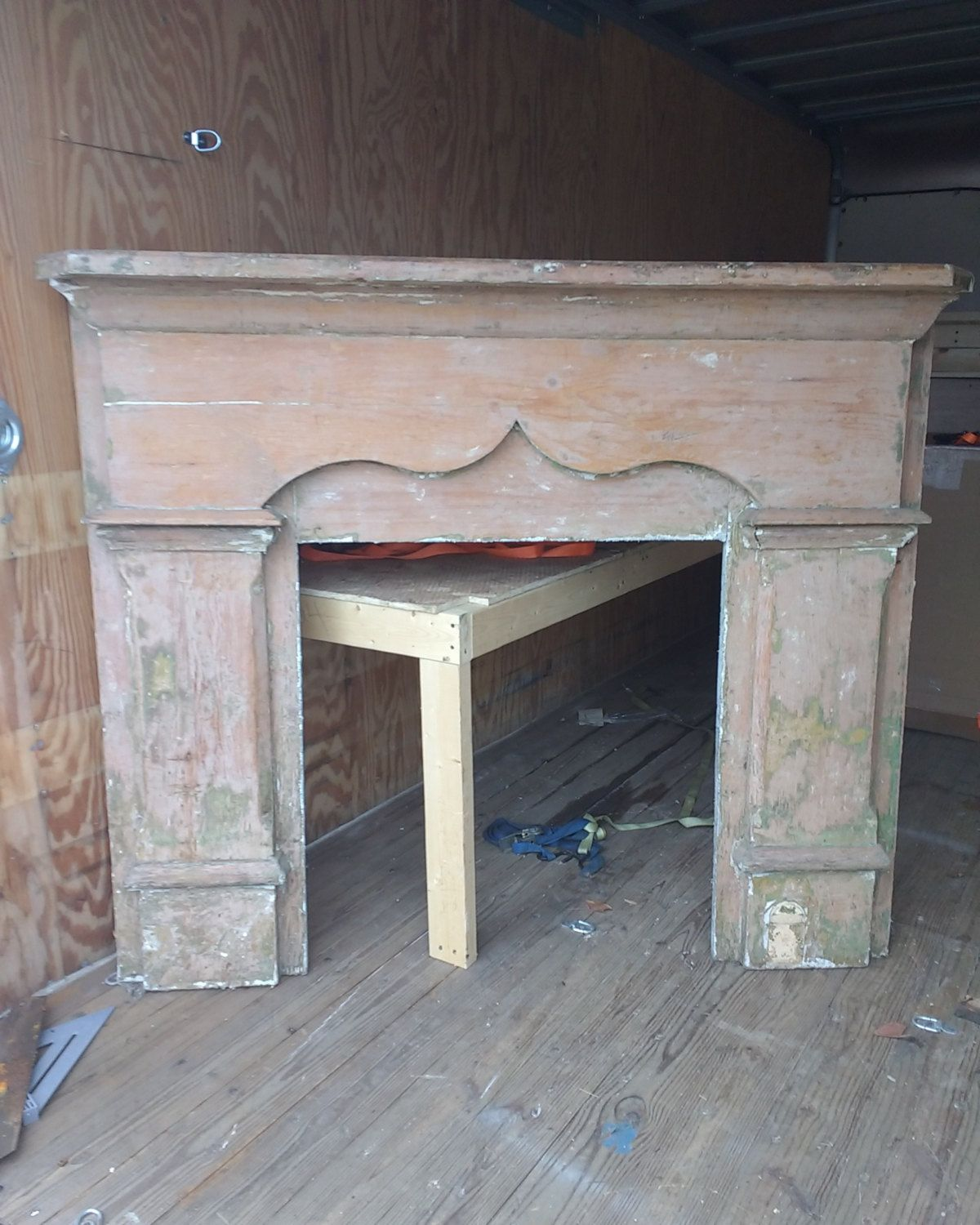 Antique Mantle Salvaged Mantle Fireplace Surround Fireplace