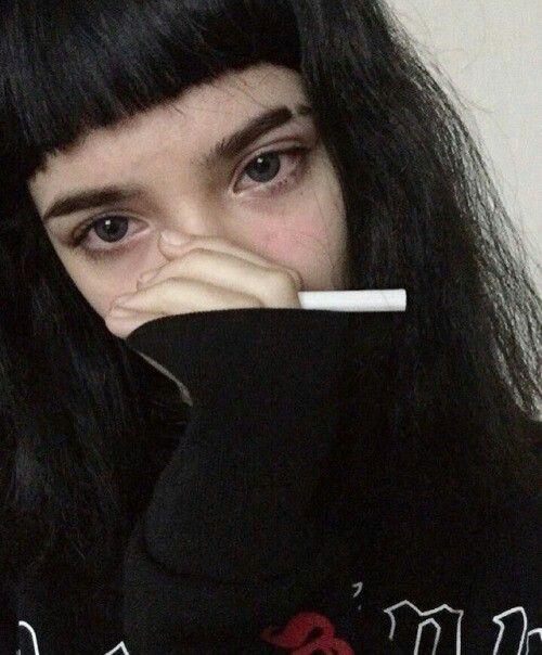 Punk, Girl, Goth, Gothic, Aesthetic, Cute, Pretty, Beautiful, Beauty | Sad Girl ...