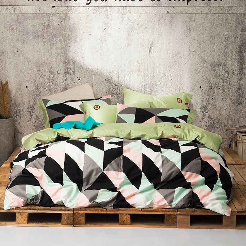 Bedroom Sets Full Size Mint Black And White Bedroom Ideas Lighting For Small Bedroom Bedroom With Black Accent Wall: High Fashion Mint Green Black White Gray And Blush Pink