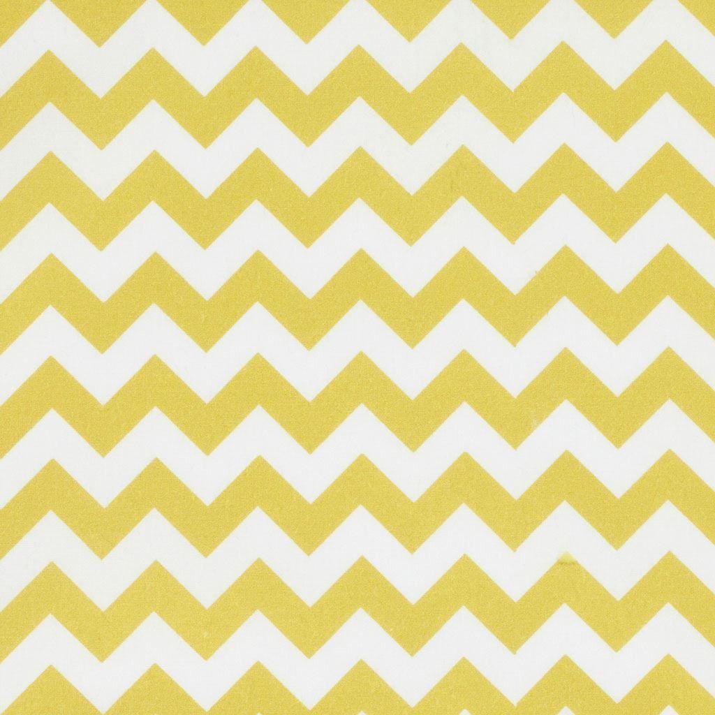 Tissu coton chevrons esprit scandinave Jaune , Mondial Tissus