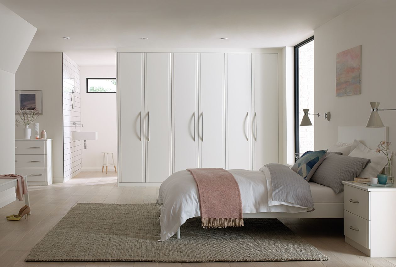 Elegant Bedrooms Inspiration Keeping To White Fitted Bedroom Furniture Creates A Simple And 2018