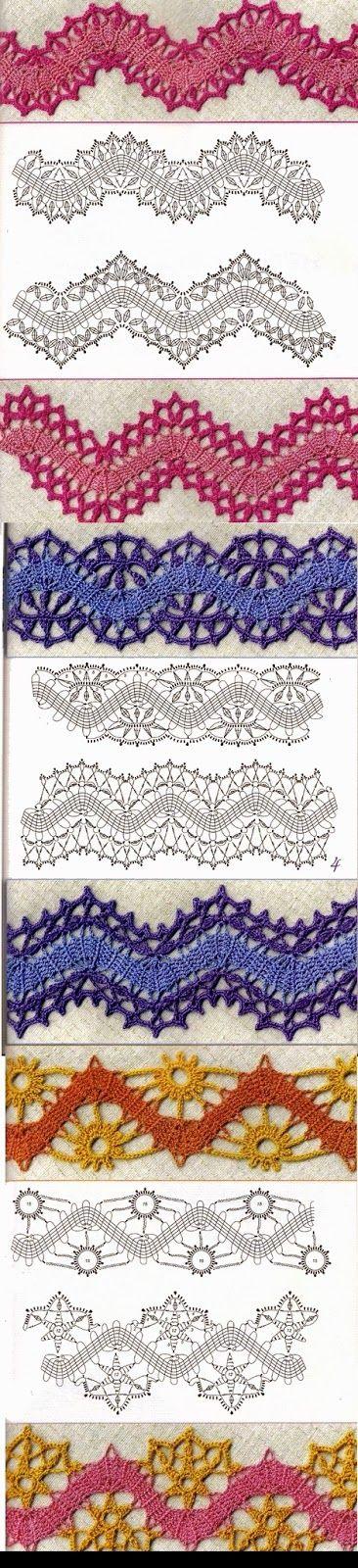 Uncinetto e crochet: Raccolta di bordi all'uncinetto crochet n 1
