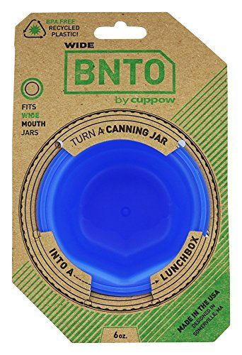 Cuppow BNTO Canning Jar Lunchbox Adaptor - Wide Mouth - 6...   Great stocking stuffer idea