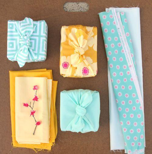 Furoshiki El arte de envolver con tela Organizacion en el hogar - envoltura de regalos originales
