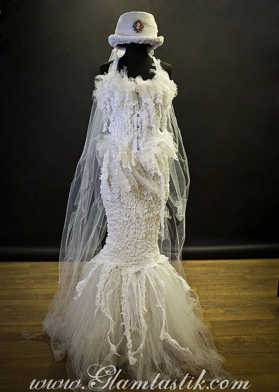 custom size white victorian zombie ghost burlesque corset costume