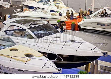 Editorial Stock Photo Luxury Boats In The Stand Of Cranchi From