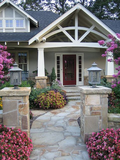 Craftsman Front Doors Craftsman Porch Facade House: House Front, Craftsman Bungalows, Exterior Design