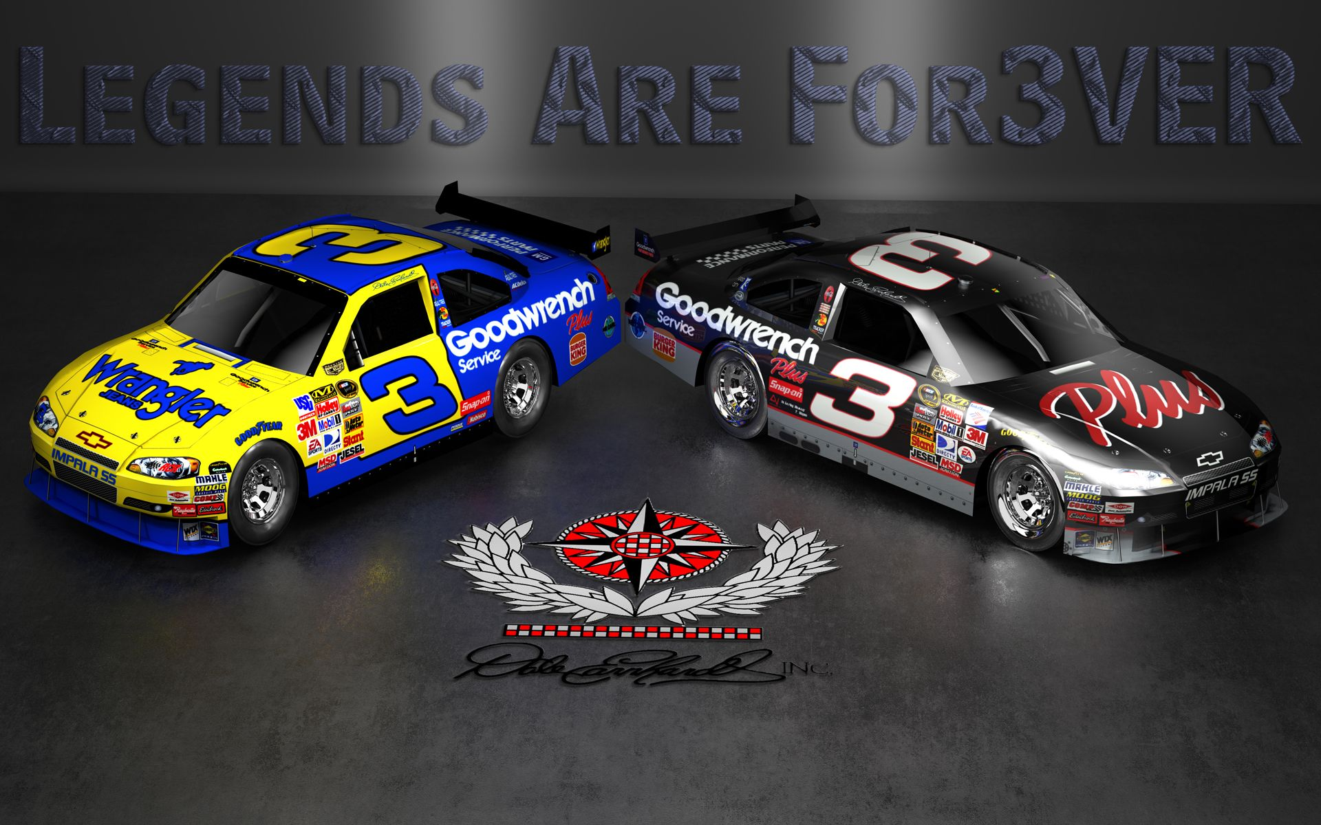 Dale Earnhardt Sr with American flag CrackBerry Wallpapers By Wicked