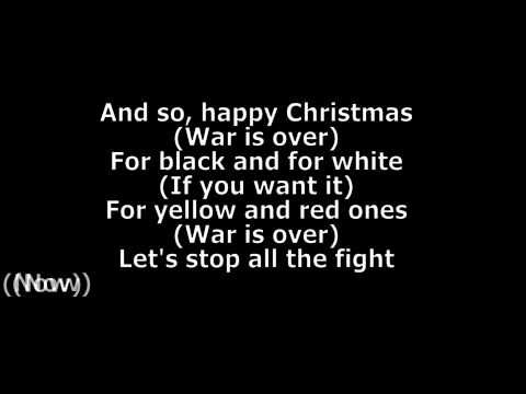John Lennon Happy Xmas War Is Over Lyrics Hd John Lennon Happy Christmas Xmas Songs Happy Xmas