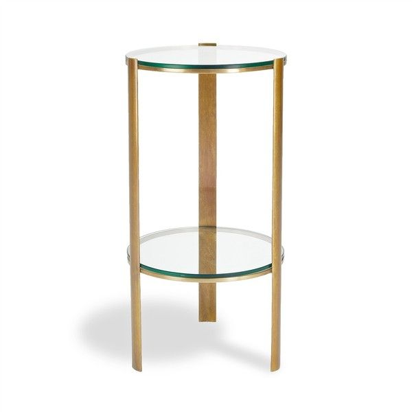 classic brass round side table 557 liked on polyvore featuring rh pinterest com