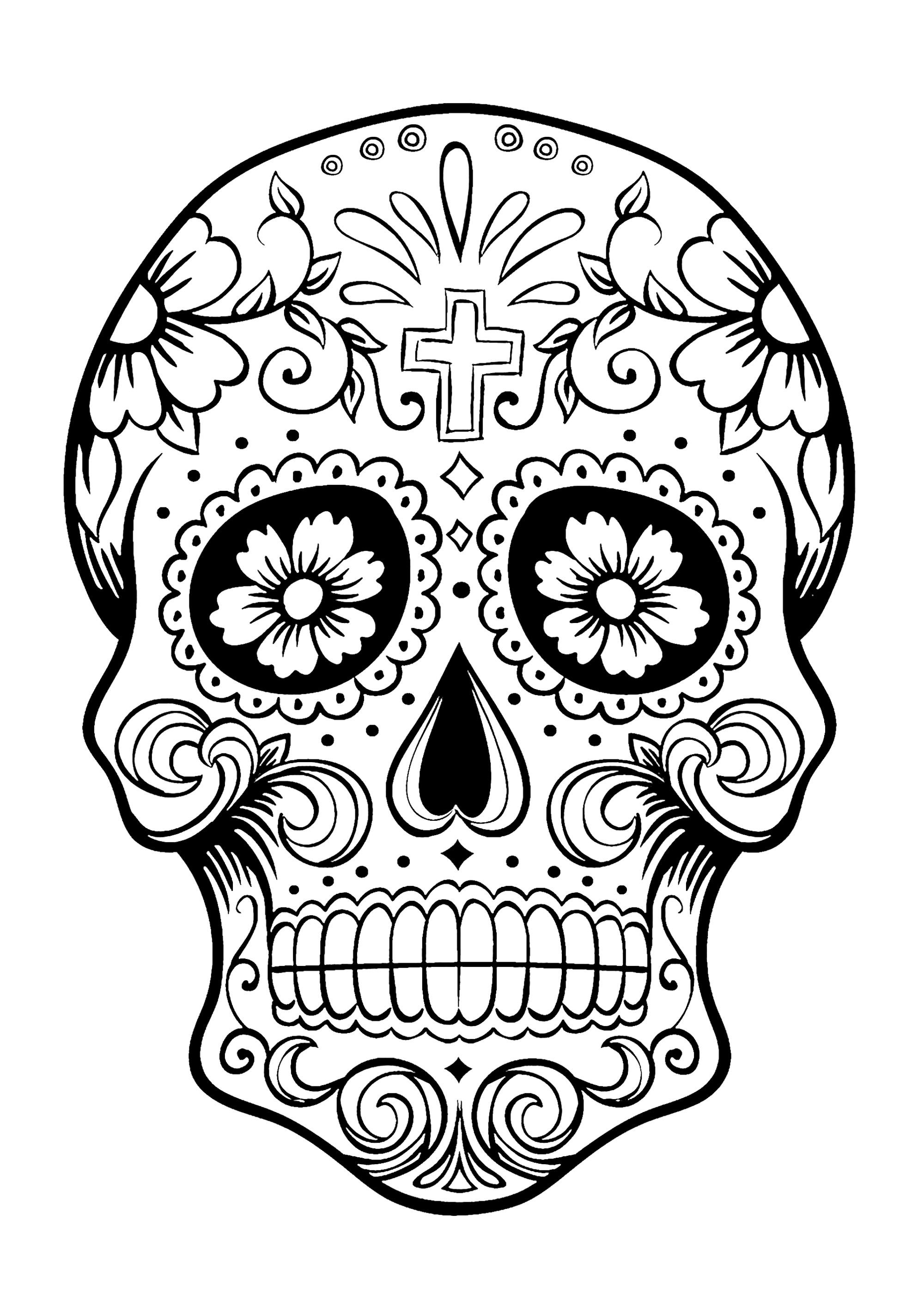 El Dia De Los Muertos 3 - El Dia De Los Muertos Coloring Pages For