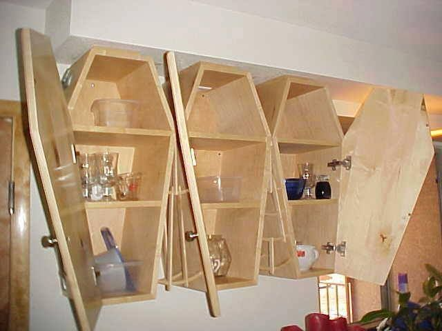Coffin Wall Hung Cabinets