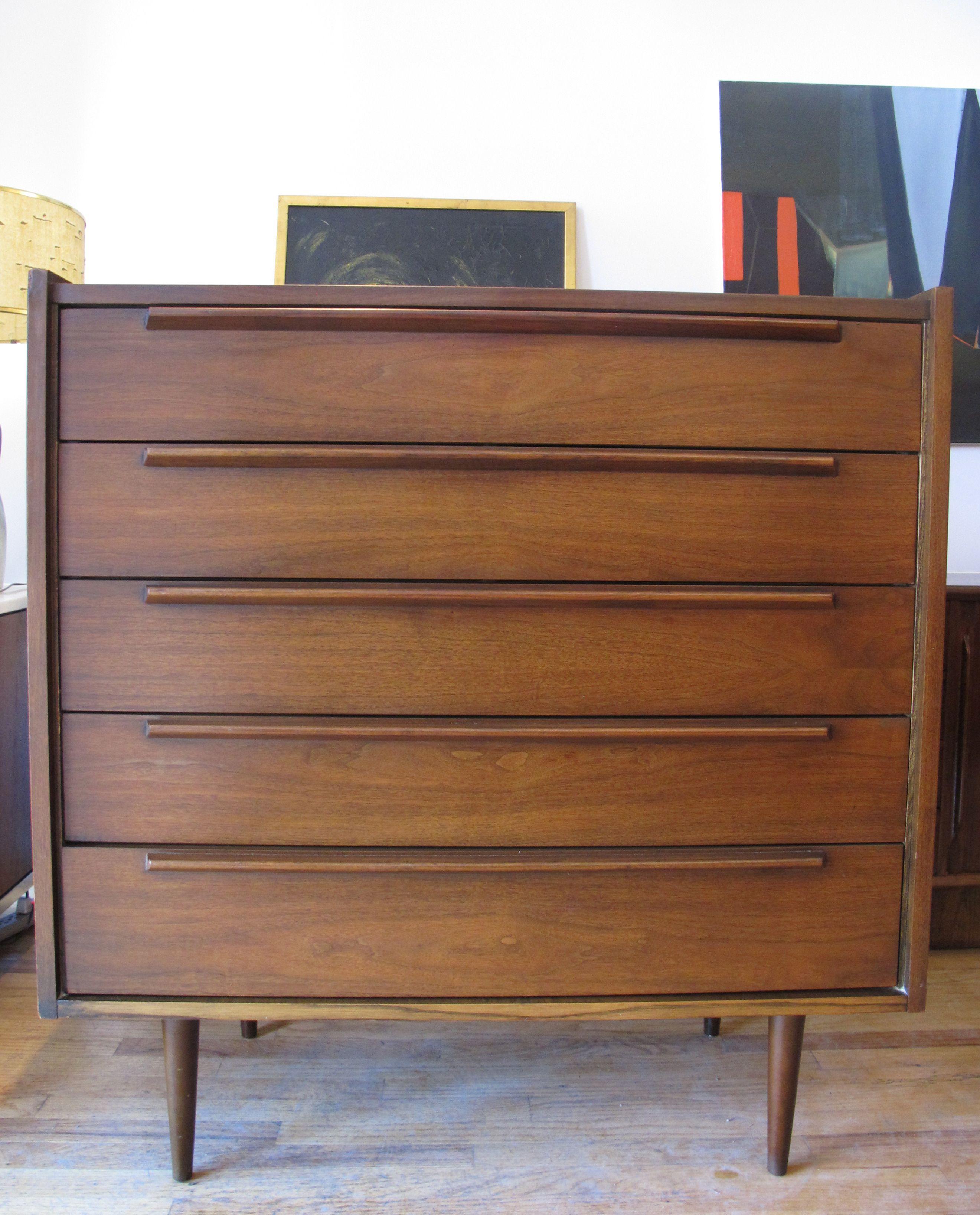 mid century modern 5 drawer tall dresser sold items adverts rh pinterest com
