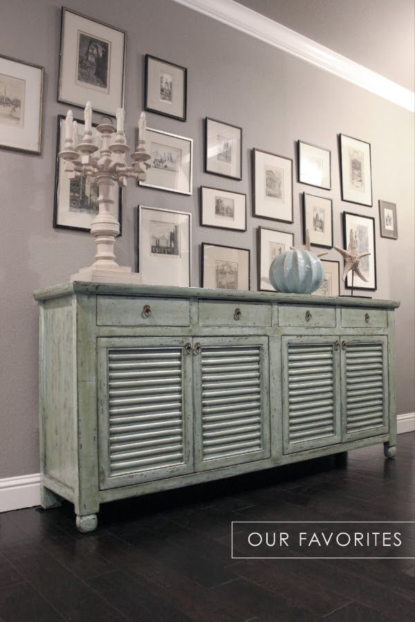 the aiden sideboard is stunning in seafoam green with shutter doors rh pinterest com