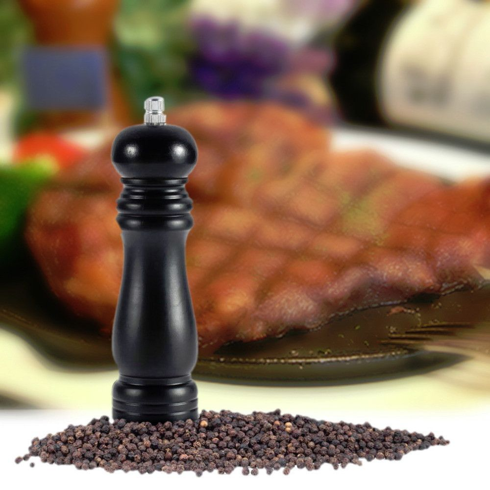 1pcs Wood Pepper Mill Shaker Pepper Grinder for Family kitchen/Restaurants/els New Free Shipping