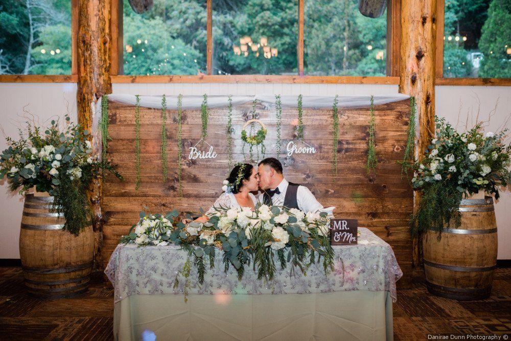 rustic greenery wedding sweetheart table decor wedding rh pinterest com