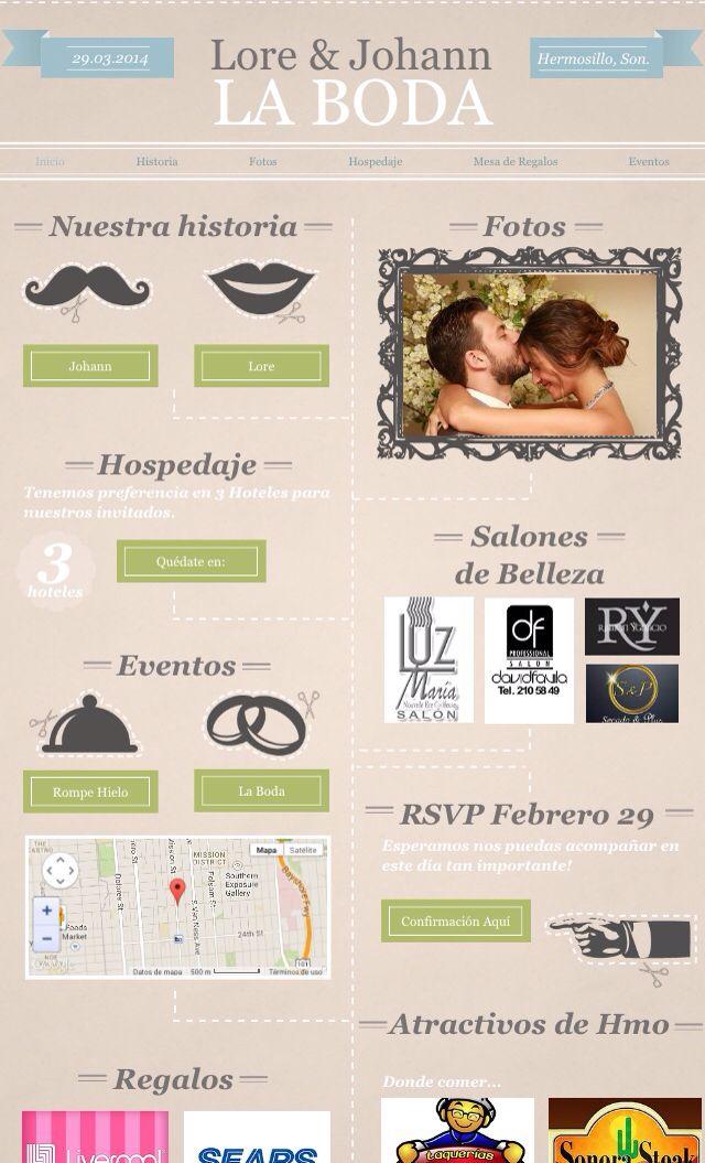 Página de la boda :)