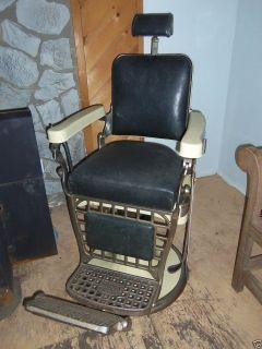 antique vintage original emil j paidar barber chair 1930 s w razor rh pinterest com