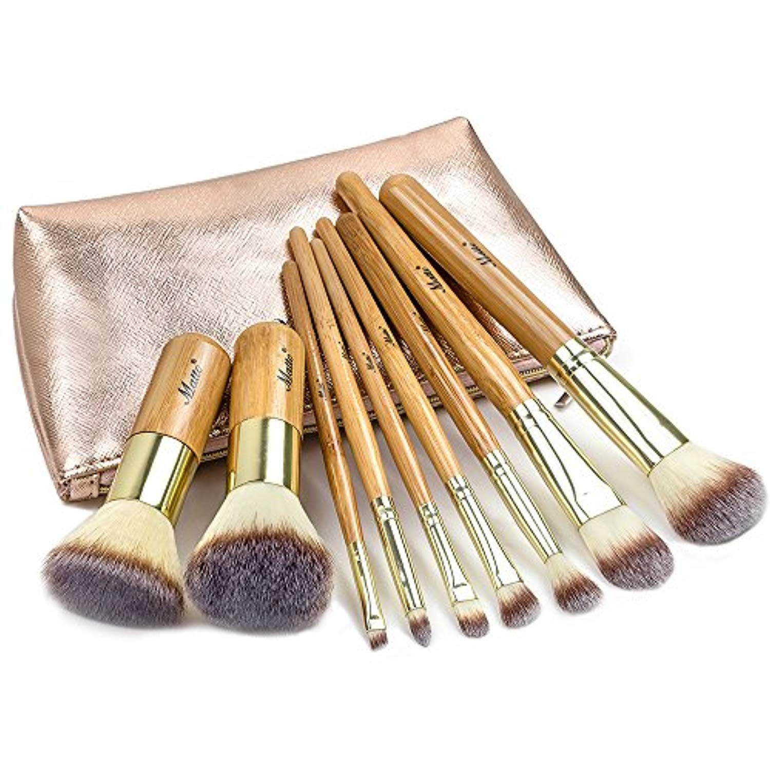 Matto Makeup Brushes 9Piece Makeup Brush Set Foundation