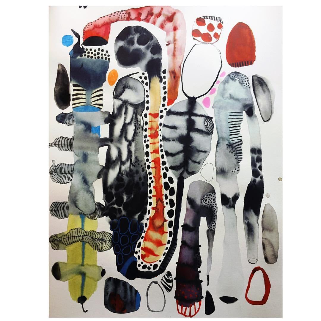 1,728 vind-ik-leuks, 16 reacties - Emma Larsson artist (@zebrakadebra) op Instagram: 'Watercolor ink painting on cotton paper #akvarell #ink #artdrawing #workonpaper…'