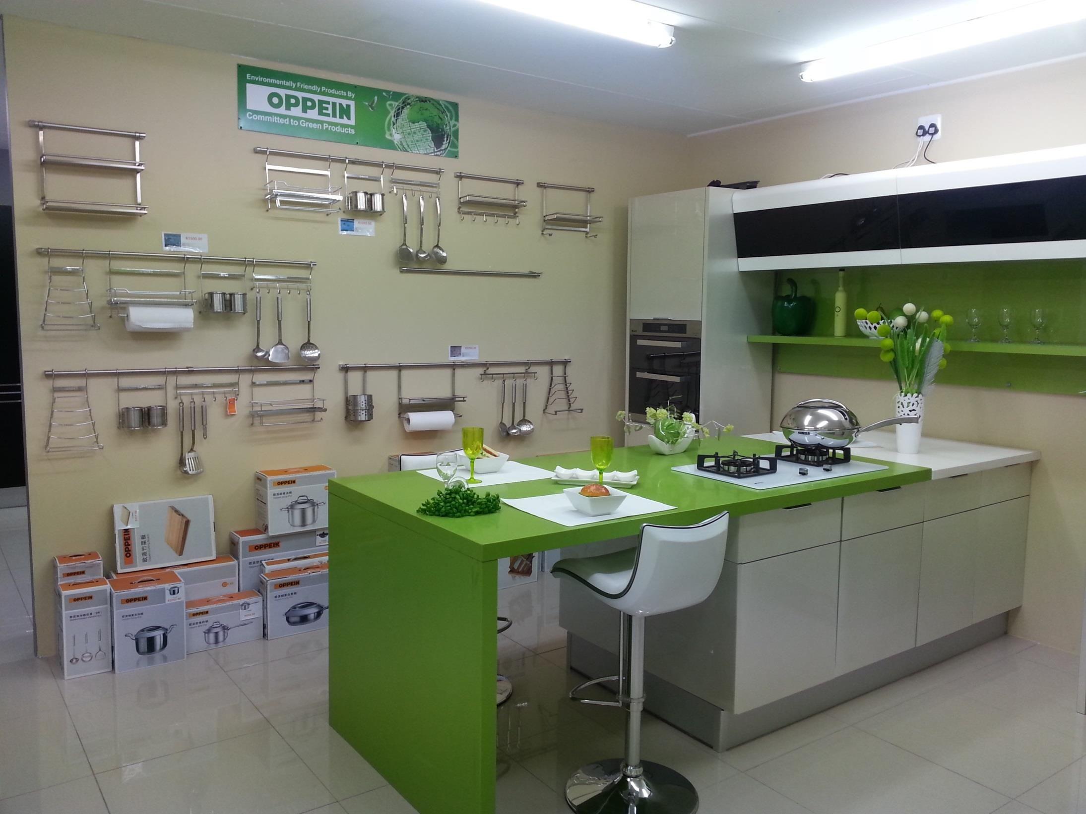 china oppein green acrylic kitchen cabinet design from oppeinhome rh pinterest com