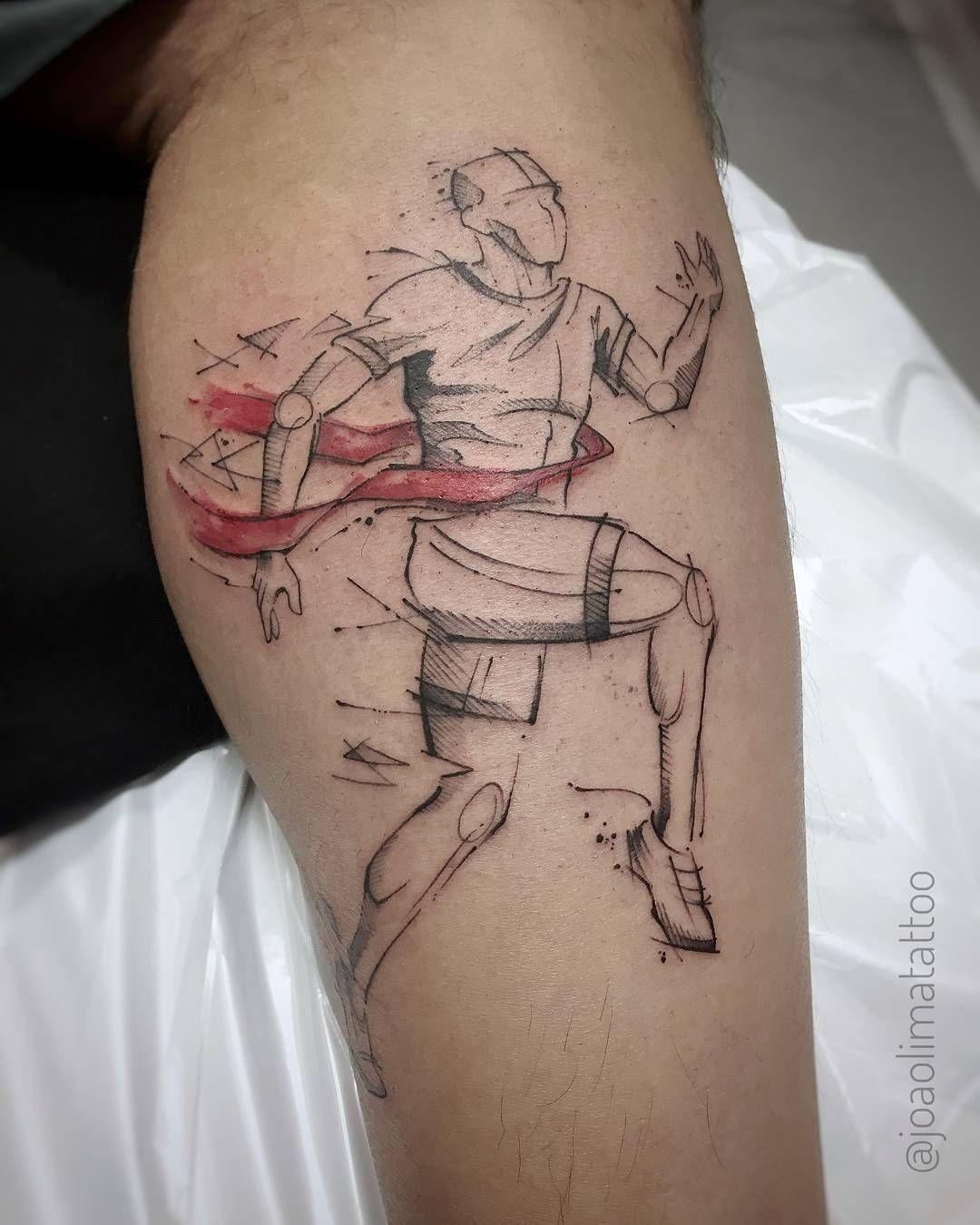 Sports tattoo man