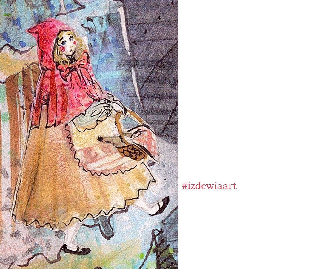 Czerwony Kapturek Izdewiaart Art Dream Art Fairy Tale Illustration