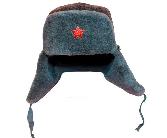 0f1a44ff2226d Ushanka 3XL 2XL L S 1980s soviet surplus russian hat with badge ear hat  with ear flaps folded back fur hats for men. USSR SOVIET ARMY Soldier s  winter ...