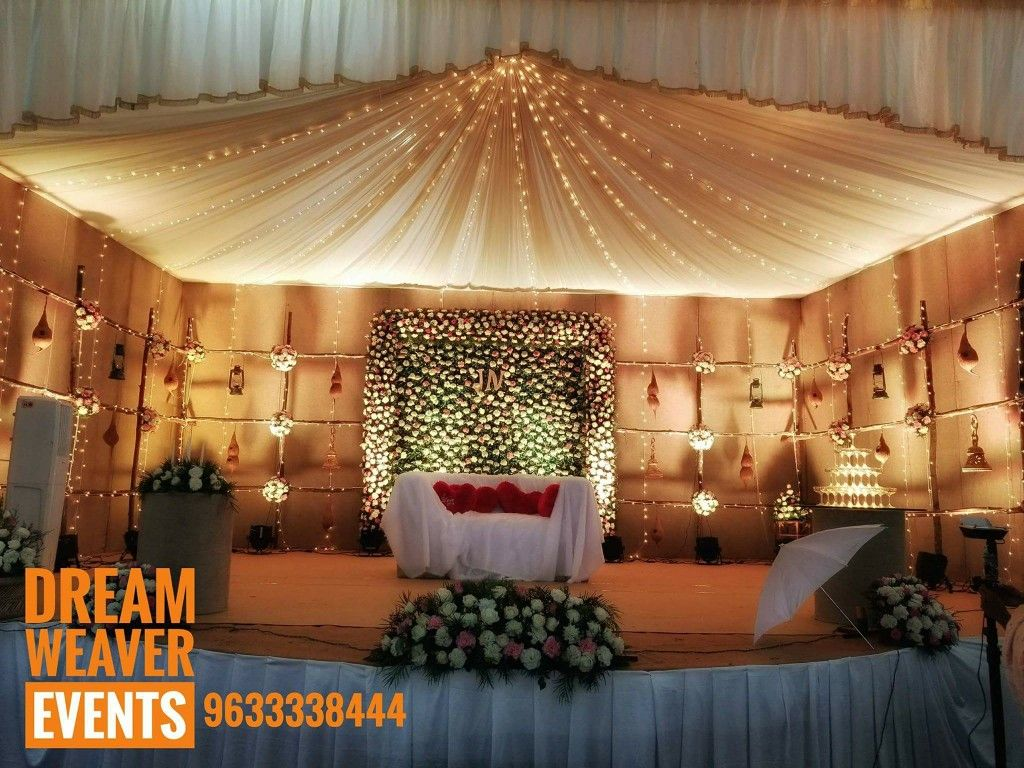 Wedding stage decoration kerala Wedding stage decoration