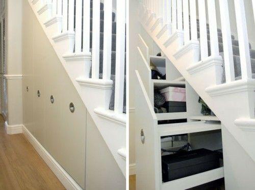 sch ne praktische lagerraum ideen unter der treppe schubladen haus deko pinterest. Black Bedroom Furniture Sets. Home Design Ideas