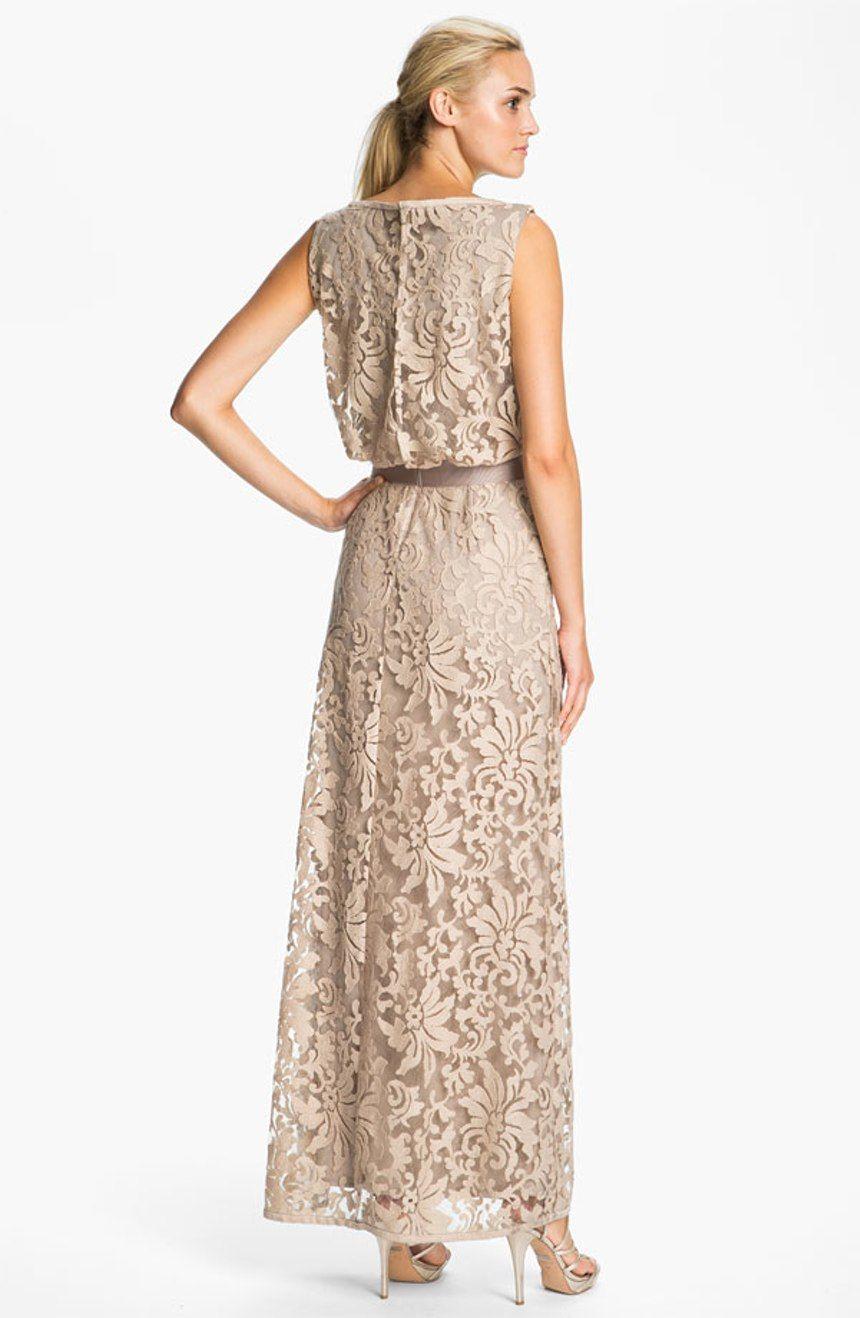 Nordstrom wedding dress  Free shipping and returns on Tadashi Shoji Lace Overlay Blouson Gown
