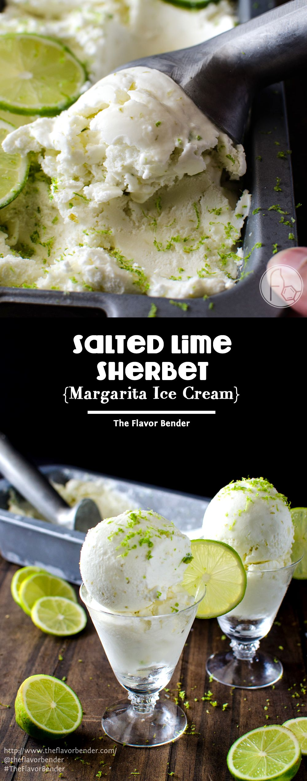 Salted Lime Sherbet Margarita Ice Cream For The Whole