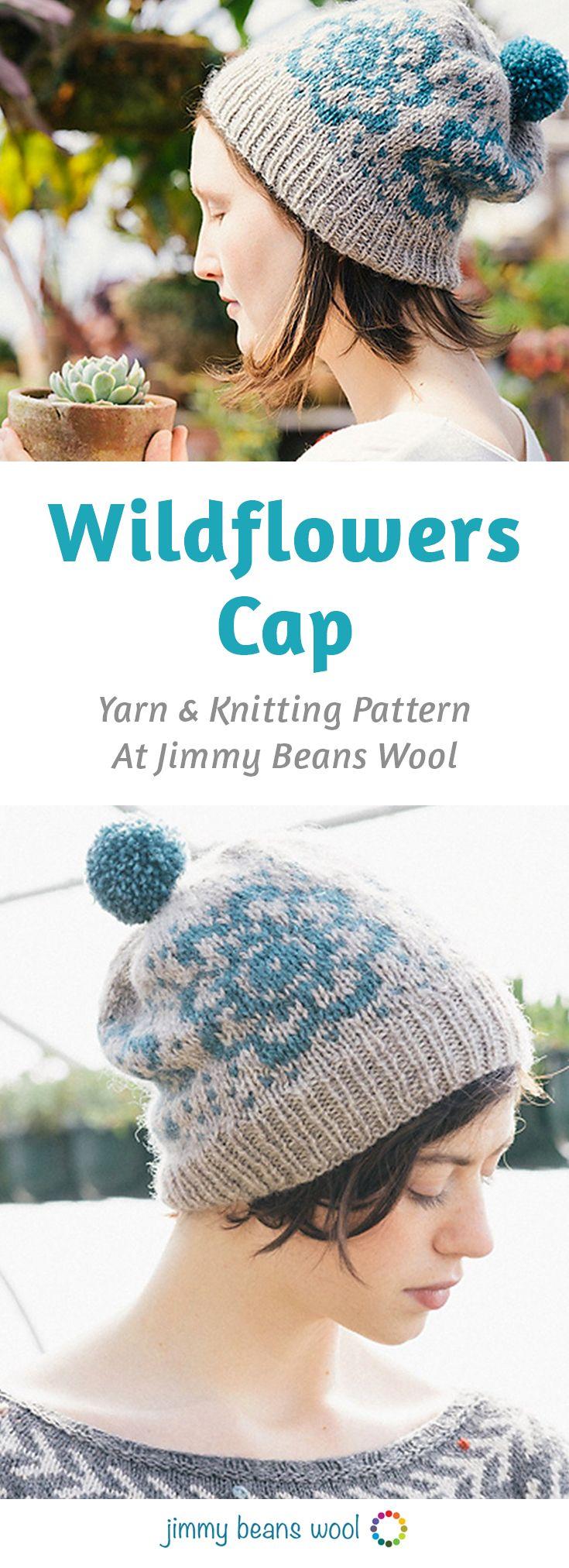 Rowan Pure Wool Worsted Superwash Wildflowers Cap Kit - Hats and Gloves  9f3b928eb57