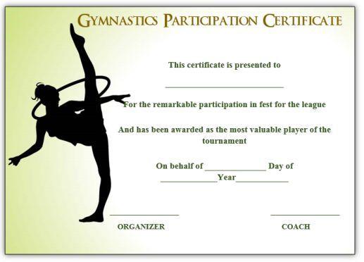 gymnastics certificate certificates template gymnastic templates recognition printable award awards creative templatesumo smithchavezlaw