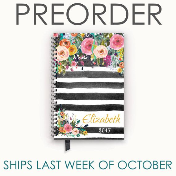 Personalized Planner 2017 Calendar Agenda with by MelvedyDesigns