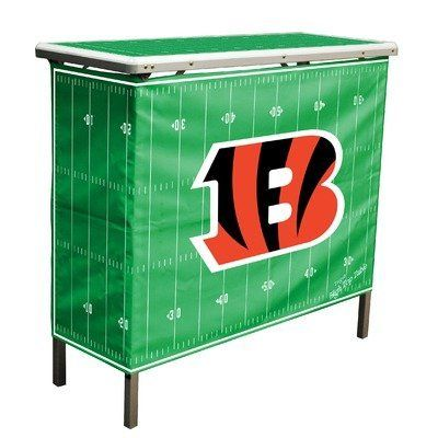 NFL Cincinnati Bengals Aluminum High Top Folding Tailgate Table With  Carrying Case By Wild Sports.