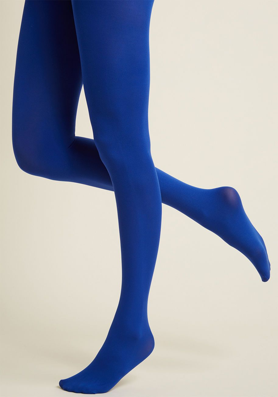 Accent Your Ensemble Tights in Royal Blue 002f4b789c4