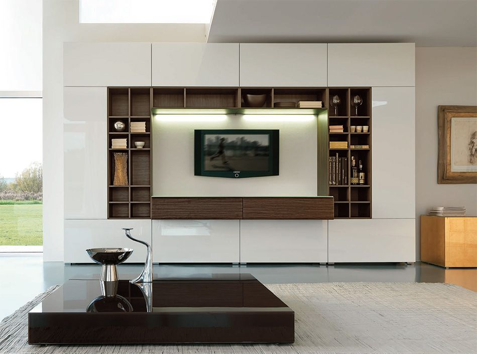 Italian Wall Unit Velvet 914 by Artigian