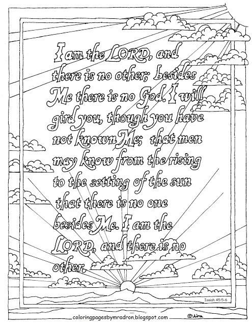 Coloring Pages For Kids By Mr Adron Printable Isaiah 455 6