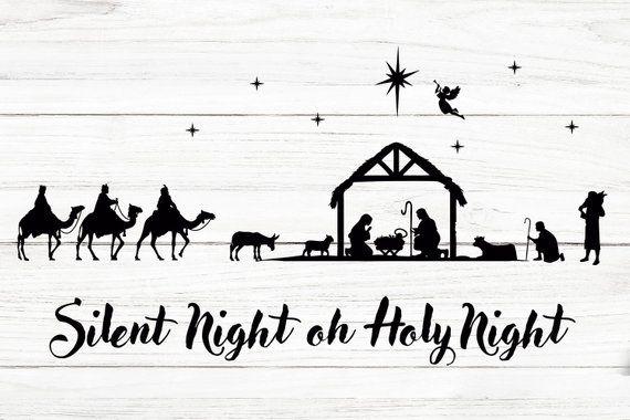 Download Nativity svg - Nativity scene SVG FIles For Cricut, Holy ...
